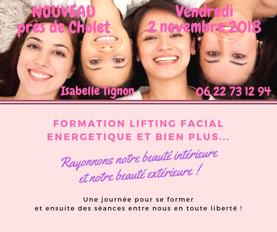 classe lifting facial énergétique isabelle tignon cholet