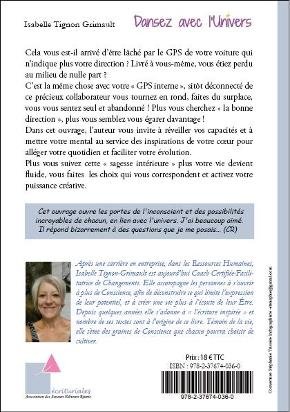 livre Dansez avec l'Univers auteur Isabelle Tignon